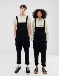 Seeker unisex pocket overalls in organic hemp - Black
