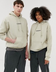 Seeker unisex search embroidered hoodie in organic cotton - Beige