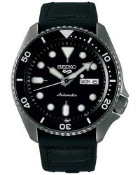 Seiko 5 Sports Mens 43mm 100m Automatic Black Dial men One size Sort