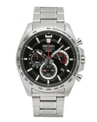 Seiko Chronograph XL 44mm 100m men One size Sølv