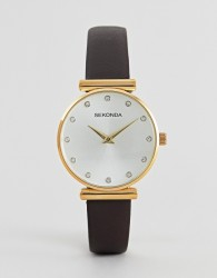 Sekonda 2471 watch with grey leather strap - Grey