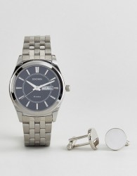 Sekonda 3479.78 Bracelet Watch & Cufflinks Gift Set In Silver - Silver