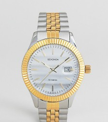 Sekonda Bracelet Watch In Silver/Gold Exclusive To ASOS - Silver
