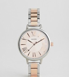 Sekonda Bracelet Watch In Silver/Rose Gold Exclusive To ASOS - Silver