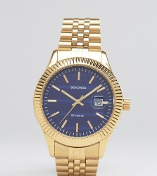Sekonda Gold Bracelet Watch With Blue Dial Exclusive To ASOS - Gold