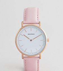 Sekonda Leather Watch In Pink Exclusive To ASOS - Pink