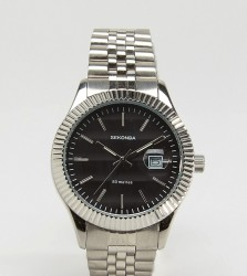 Sekonda Silver Bracelet Watch With Black Dial Exclusive To ASOS - Silver
