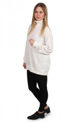 Selected Femme - Bluse - SF Deja LS Sweat - Snow White