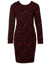 Selected Femme Jeana ls aop dress (MØRKERØD, XL)