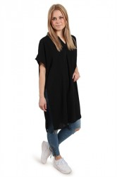 Selected Femme - Kjole - SF Avery SS Tunic - Black
