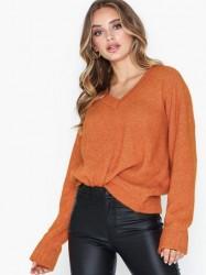 Selected Femme Slflanna Ls Knit V-Neck B Strikkede trøjer