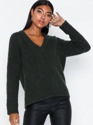 Selected Femme Slflanna Ls Knit V-Neck Noos Strikkede trøjer