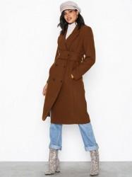 Selected Femme Slfwaise Wool Coat B Frakker Mørk Brun