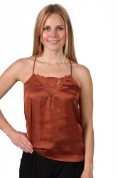 Selected Femme - Top - SF Lovely Strap Top - Rustic Brown
