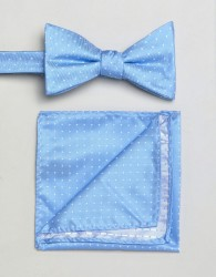 Selected Homme Bow Tie & Pocket Square - Multi