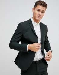 Selected Homme Dark Green Suit Jacket In Slim Fit - Green