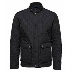 Selected Homme Delton Quiltet Jacket (Sort, LARGE)