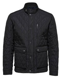 Selected Homme Delton Quiltet Jacket (Sort, XLARGE)
