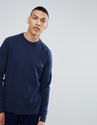 Selected Homme Fleck Knit Jumper - Navy