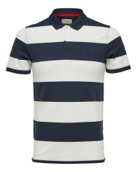 Selected Homme Haro Stribe polo 16056076 (MØRKEBLÅ, MEDIUM)