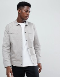 Selected Homme Jacket With Chest Pockets - Grey