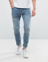 Selected Homme Jeans In Skinny Fit Stretch Denim - Blue