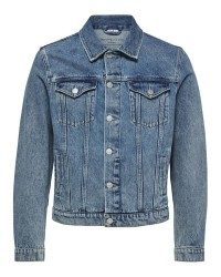 Selected Homme Jeffrey 16061984 denim jacket (Denim, LARGE)