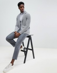 Selected Homme Jersey Blazer - Grey