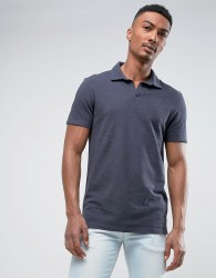 Selected Homme Polo with Revere Collar - Navy
