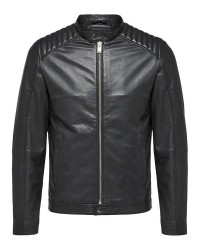 Selected Homme Shnvalley 16060119 classic leather (Sort, XLARGE)