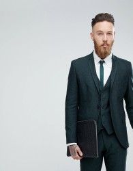 Selected Homme Skinny Suit Jacket In Forest Green - Green