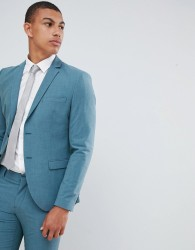 Selected Homme Skinny Suit Jacket In Green With Stretch - Green