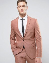 Selected Homme Skinny Suit Jacket - Pink
