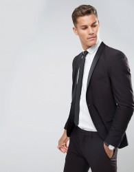 Selected Homme Skinny Tuxedo Suit Jacket With Satin Lapel - Red