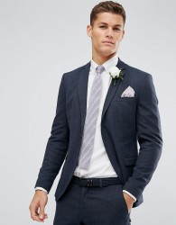 Selected Homme Skinny Winter Wedding Suit Jacket - Navy