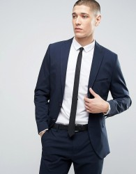 Selected Homme Slim Seersucker Suit Jacket - Navy