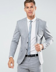 Selected Homme Slim Suit Jacket With Stretch - Grey