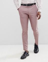 Selected Homme Slim Suit Trouser In Rose - Brown