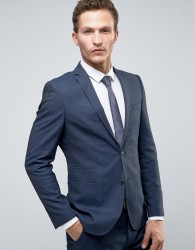 Selected Homme Slim Suit Tuxedo Jacket With Satin Lapel - Navy