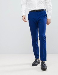 Selected Homme Slim Tuxedo Suit Trousers - Blue