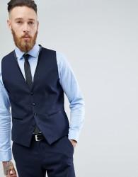 Selected Homme Slim Waistcoat - Navy