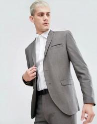 Selected Homme Slim Wedding Suit Jacket - Brown