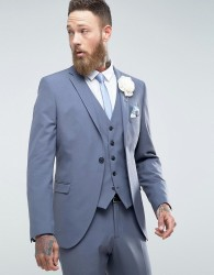Selected Homme Slim Wedding Suit Jacket With Stretch - Blue