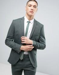 Selected Homme Super Skinny Suit Jacket - Green