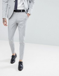 Selected Homme Super Skinny Suit Trousers - Grey