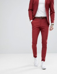 Selected Homme Super Skinny Suit Trousers - Red