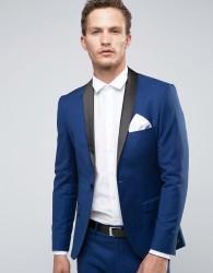 Selected Homme Super Skinny Tuxedo Jacket - Navy