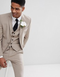 Selected Homme Super Skinny Wedding Suit Jacket - Stone