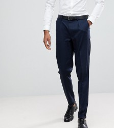 Selected Homme TALL Tapered Smart Trousers In Texture - Navy