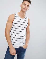 Selected Homme Vest With Stripe - Navy